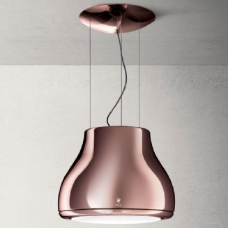 Elica Shining in Polished Cooper ceiling hung extractor